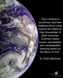 biblical foundation worldview quote beechick