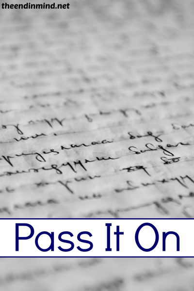 Pass It On - By Diana Barto