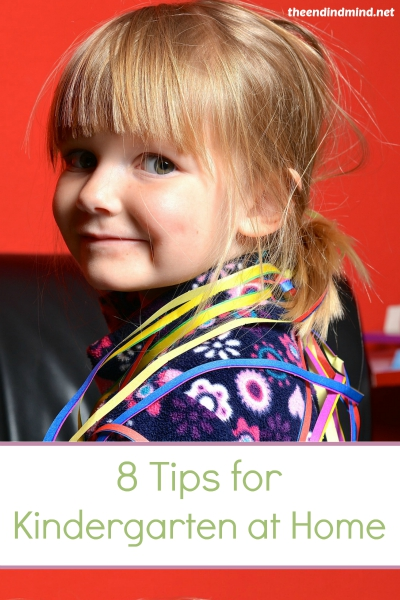 8 Tips for Kindergarten at Home - By Diana Barto
