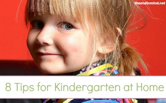 8 Tips for Kindergarten at Home